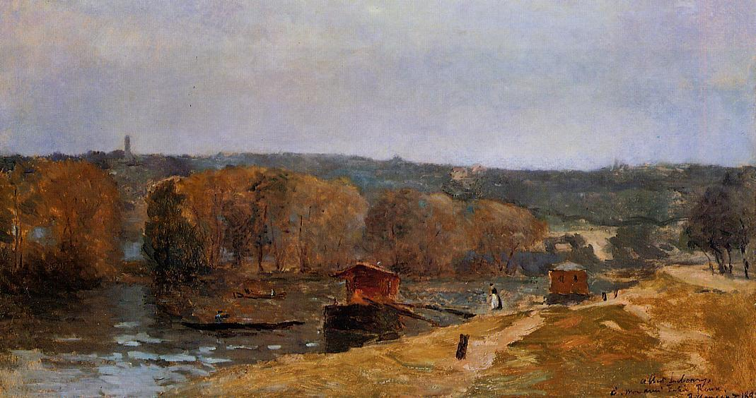 famous painting Billancourt Landscape of Albert Charles Lebourg