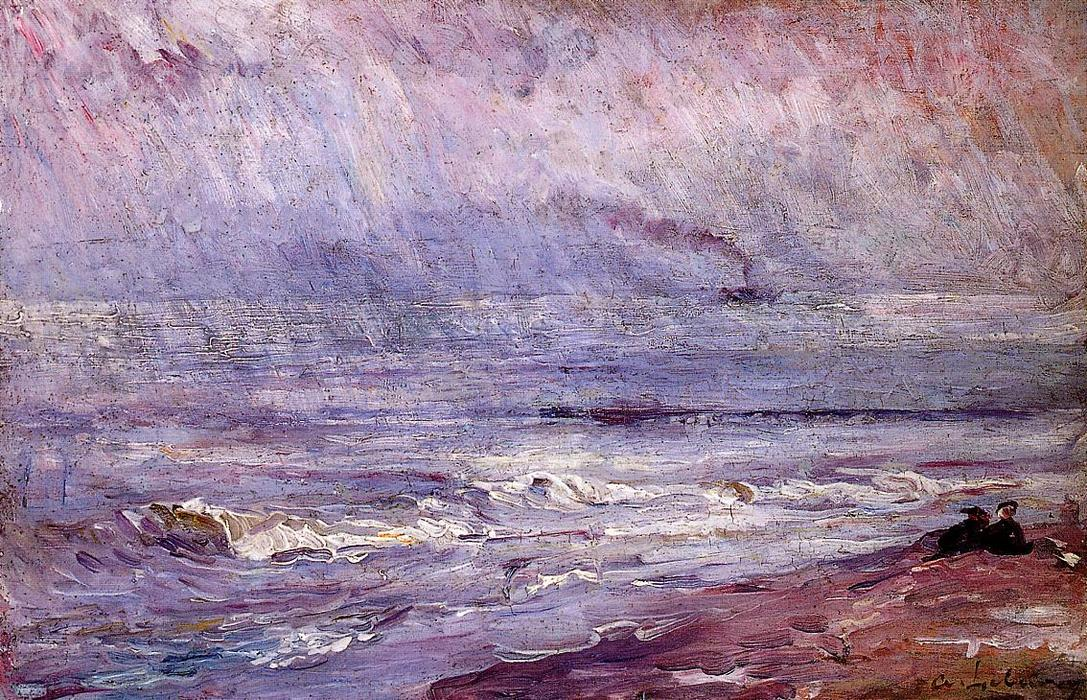 famous painting Seascape of Albert-Charles Lebourg (Albert-Marie Lebourg)