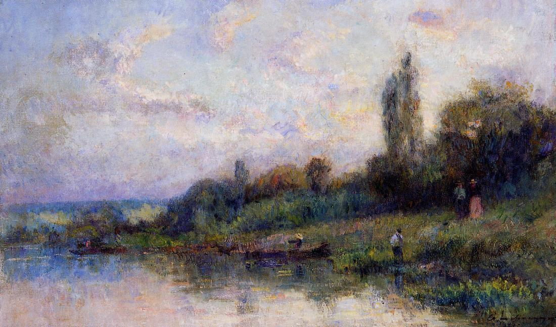 famous painting The Banks of the Seine of Albert-Charles Lebourg (Albert-Marie Lebourg)
