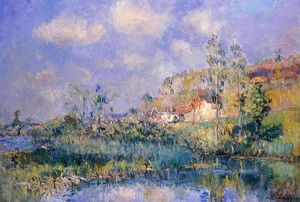 Albert-Charles Lebourg (Albert-Marie Lebourg) - The Pond at Eysies