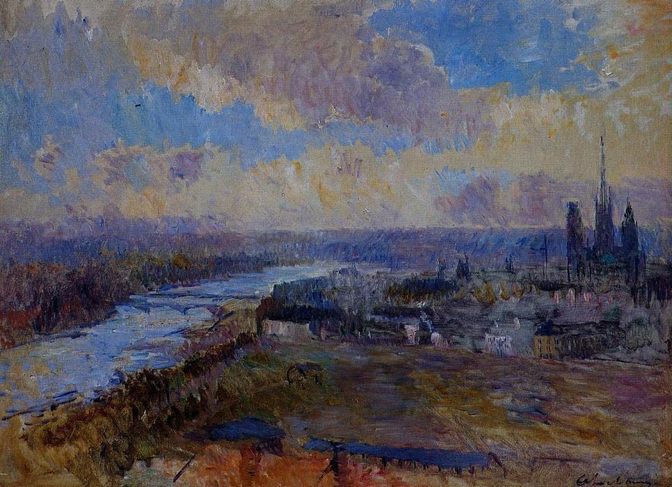 famous painting The Seine at Rouen 1 of Albert-Charles Lebourg (Albert-Marie Lebourg)