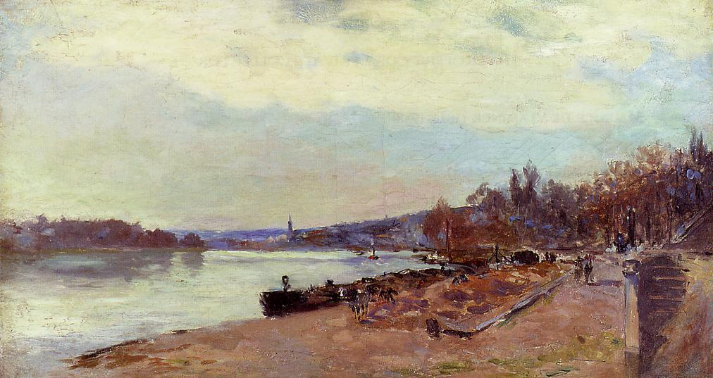 famous painting The Seine at Suresnes of Albert-Charles Lebourg (Albert-Marie Lebourg)