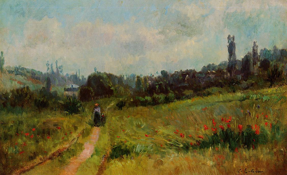 famous painting Vetheuil Path, Morning Effect of Albert-Charles Lebourg (Albert-Marie Lebourg)