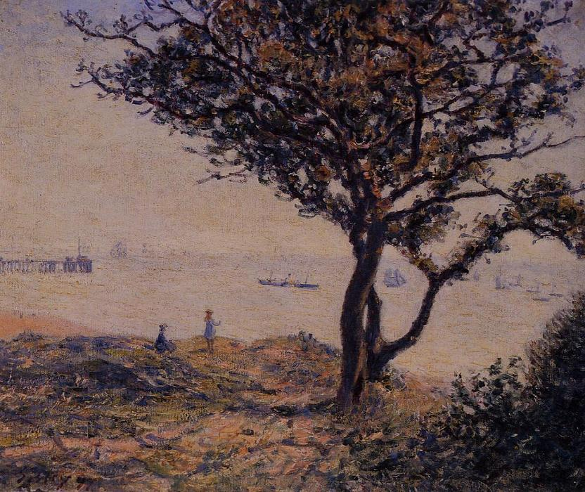 famous painting A Cardiff Shipping Lane of Alfred Sisley