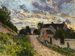 Alfred Sisley - A Path in Louveciennes