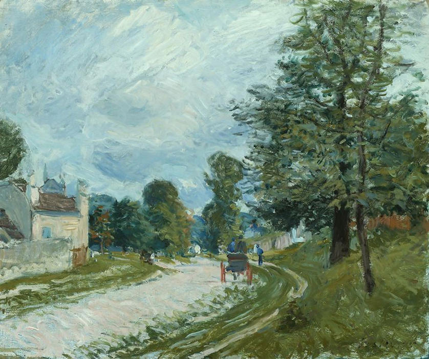 famous painting A Turn in the Road of Alfred Sisley