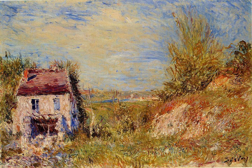famous painting Abandoned House 1 of Alfred Sisley
