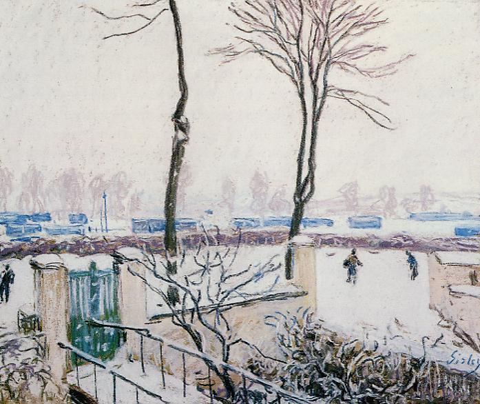 famous painting Approach to the Railway Station of Alfred Sisley