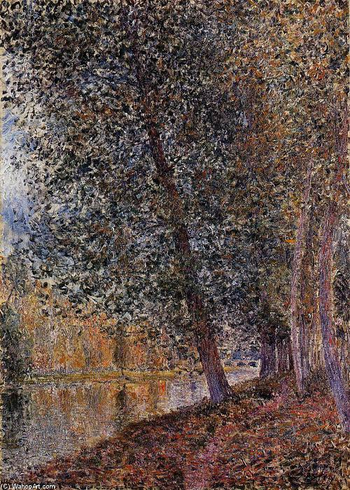 famous painting Banks of the Loing, Autumn of Alfred Sisley
