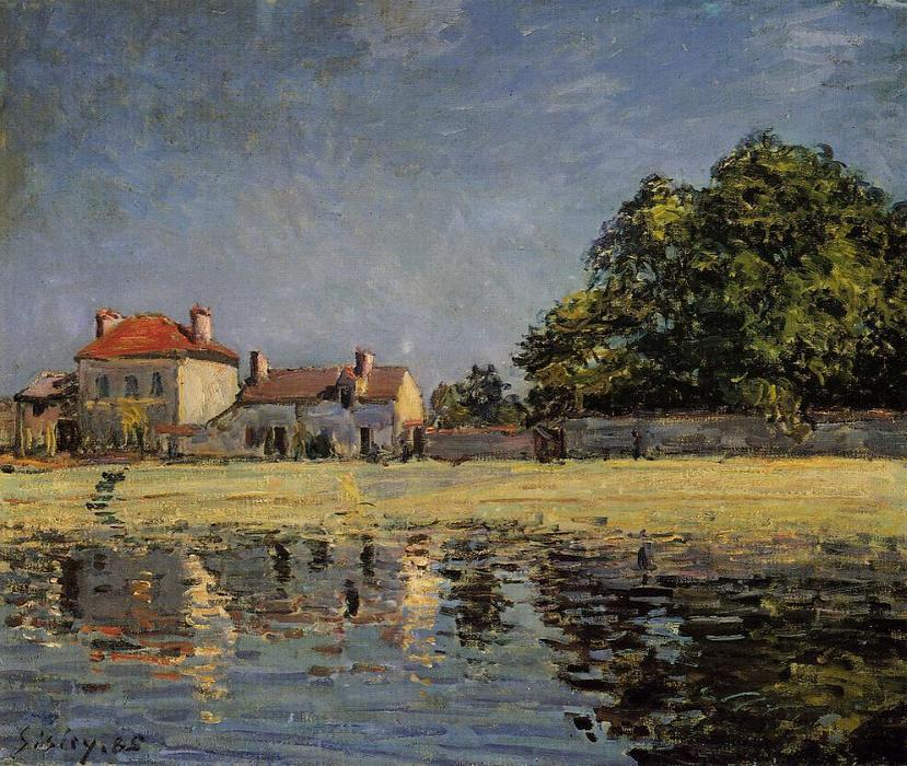 famous painting Banks of the Loing, Saint Mammes of Alfred Sisley