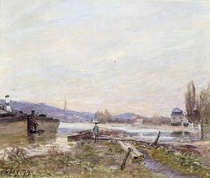 Alfred Sisley - Banks of the Seine 1