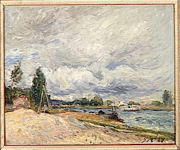 famous painting Banks of the Seine of Alfred Sisley