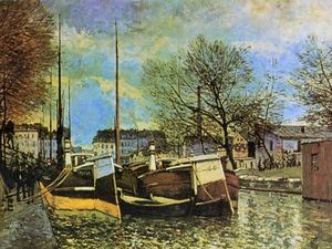 Alfred Sisley - Barges on the Saint Martin Canal