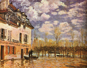 Alfred Sisley - Boat During a Flood