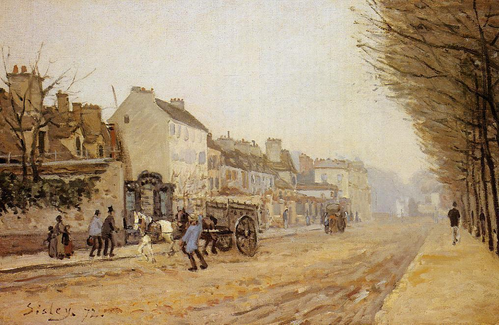 famous painting Boulevard Heloise, Argenteuil of Alfred Sisley
