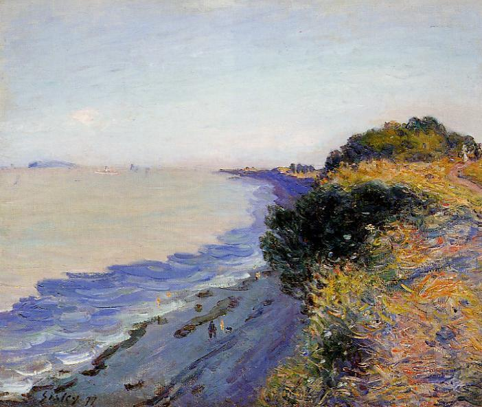 famous painting Bristol Channel from Penarth, Evening of Alfred Sisley