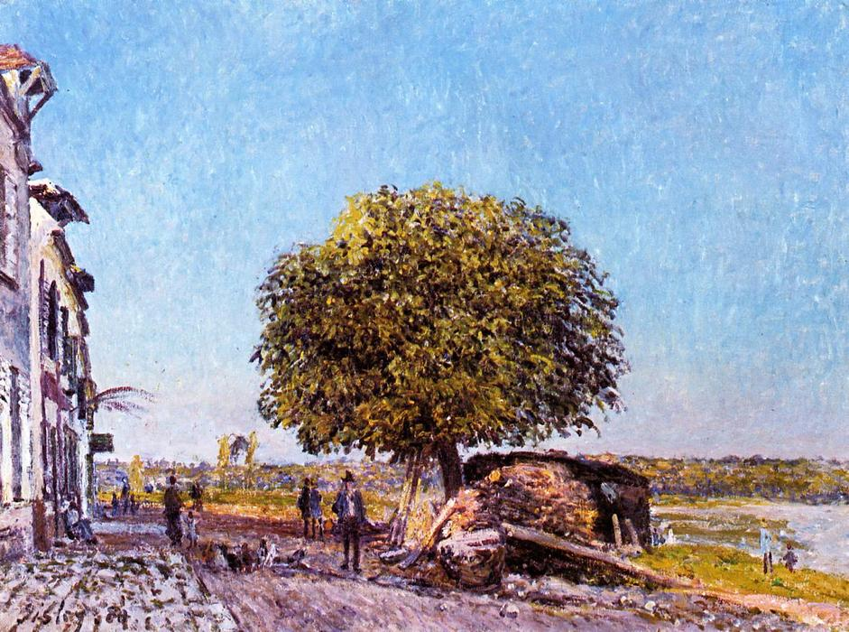 famous painting Chestnut Tree at Saint Mammes of Alfred Sisley