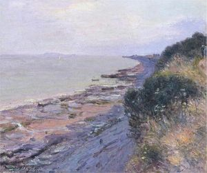 Alfred Sisley - Cliffs at Penarth, Evening, Low Tide