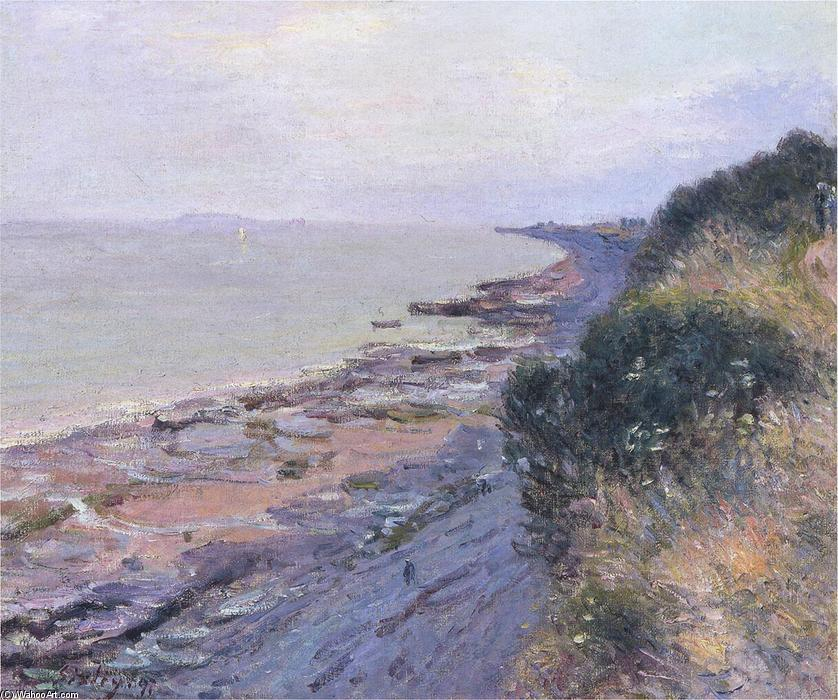 famous painting Cliffs at Penarth, Evening, Low Tide of Alfred Sisley