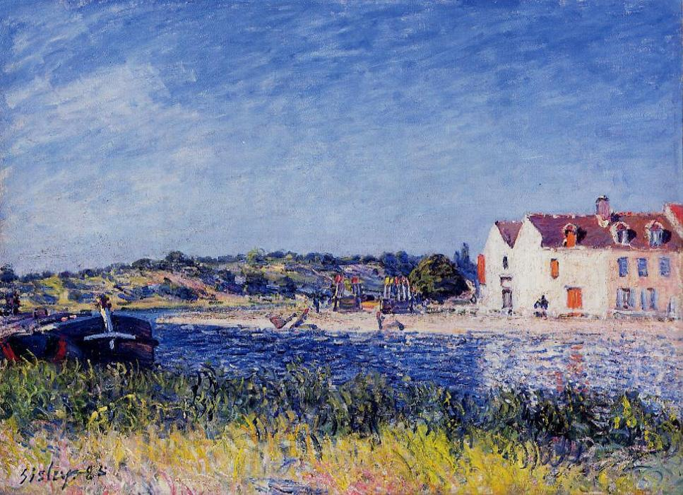 famous painting Confluence of the Seine and the Loing of Alfred Sisley