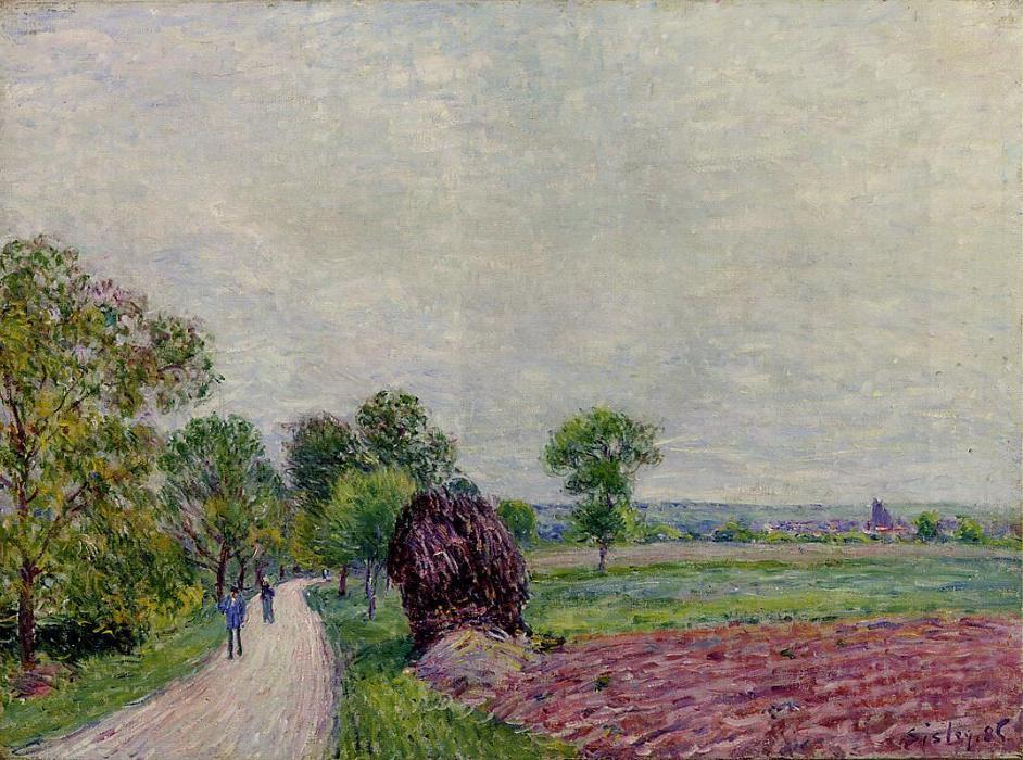 famous painting Countryside near Moret of Alfred Sisley