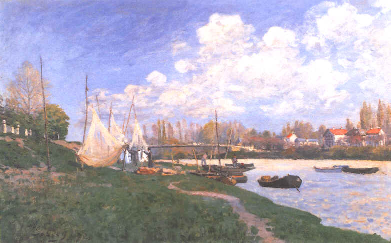 famous painting Drying Nets of Alfred Sisley