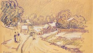 Alfred Sisley - Early Snow at Louveciennes 1