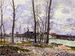 Alfred Sisley - Flood at Moret sur Loing