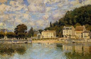 Alfred Sisley - Horses being Watered at Marly le Roi