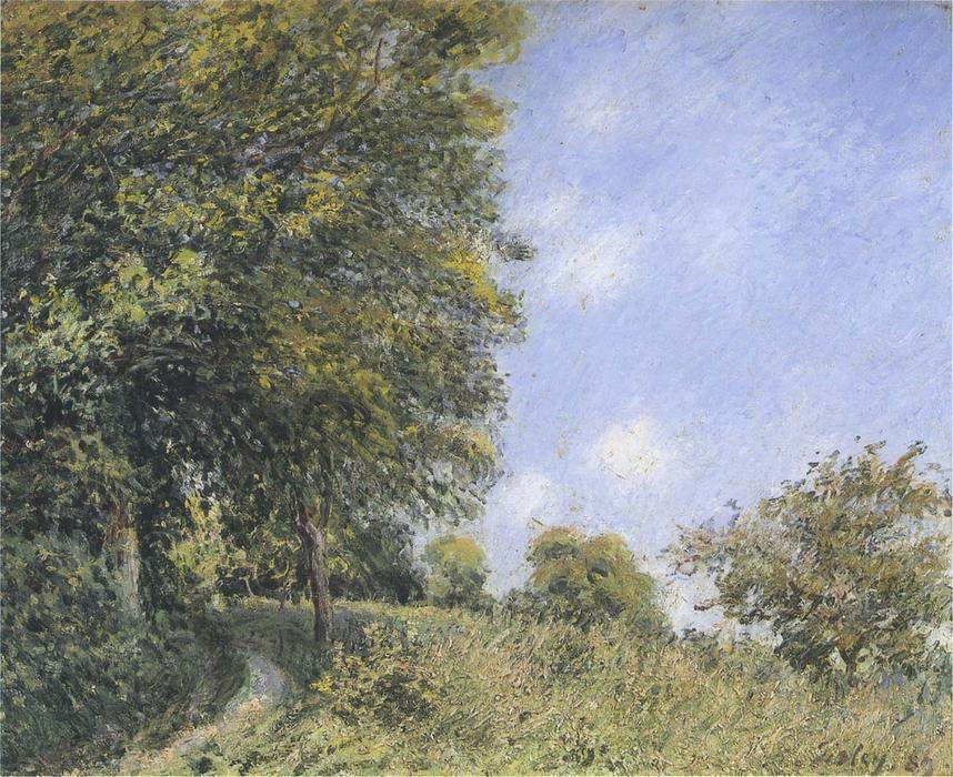 famous painting July Afternoon near the Forest of Alfred Sisley