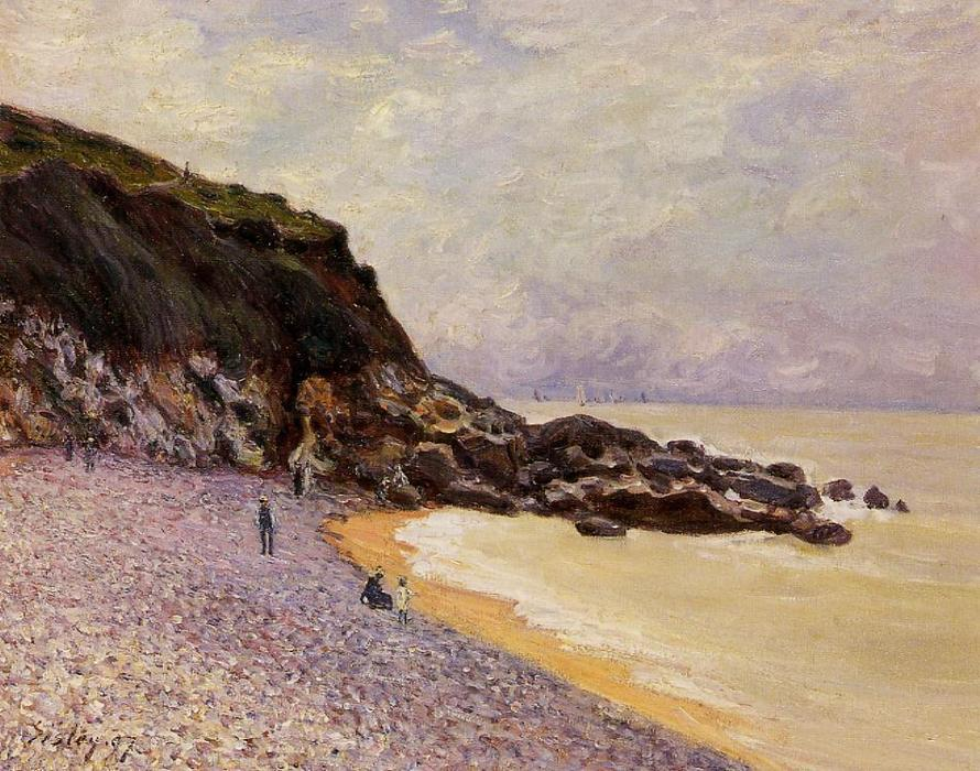 famous painting Lady s Cove before the Storm (Hastings) of Alfred Sisley
