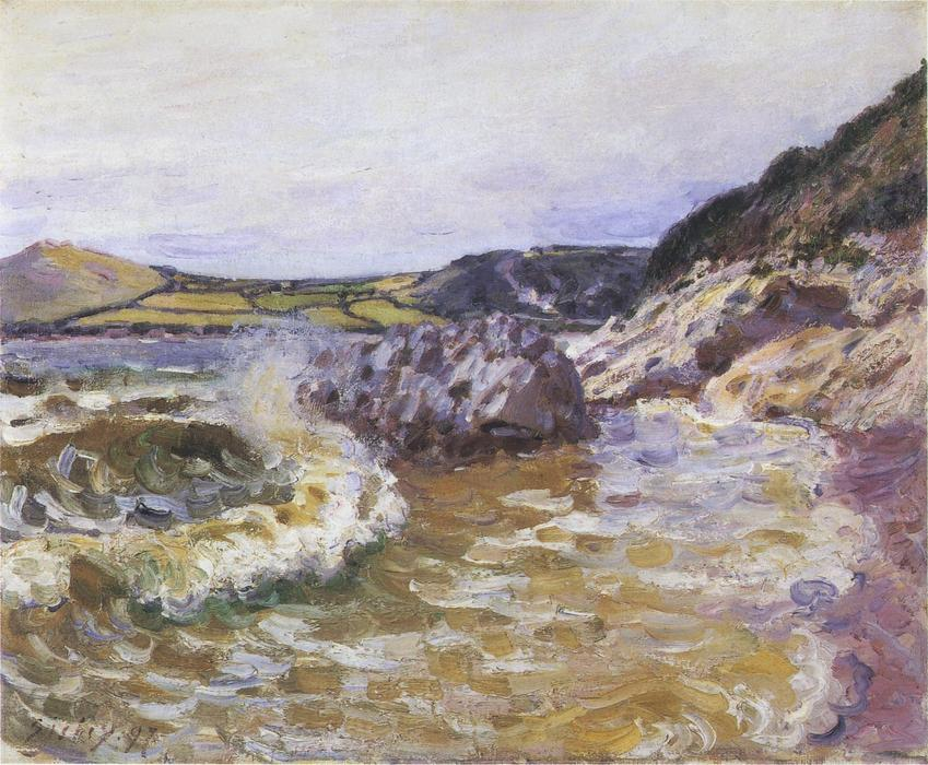 famous painting Lady s Cove of Alfred Sisley
