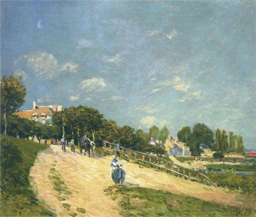 famous painting Landscape at Andresy of Alfred Sisley