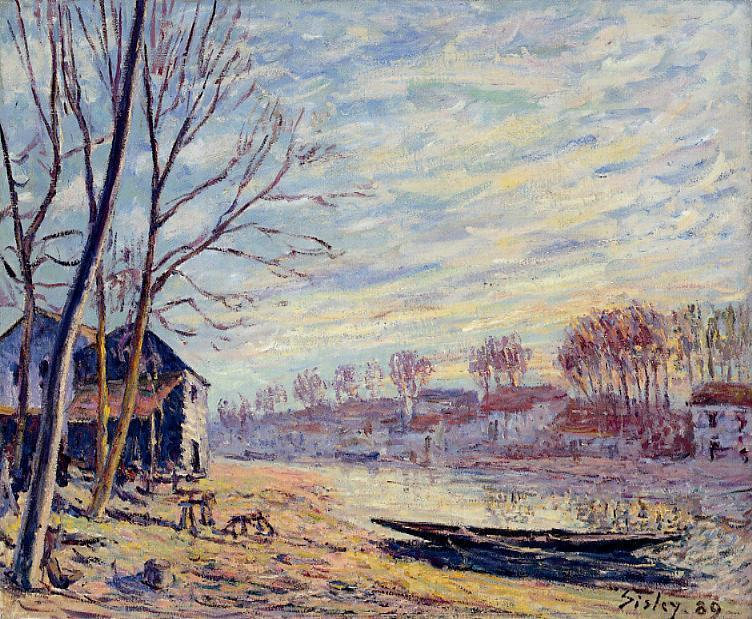 famous painting Matrat Cottages of Alfred Sisley