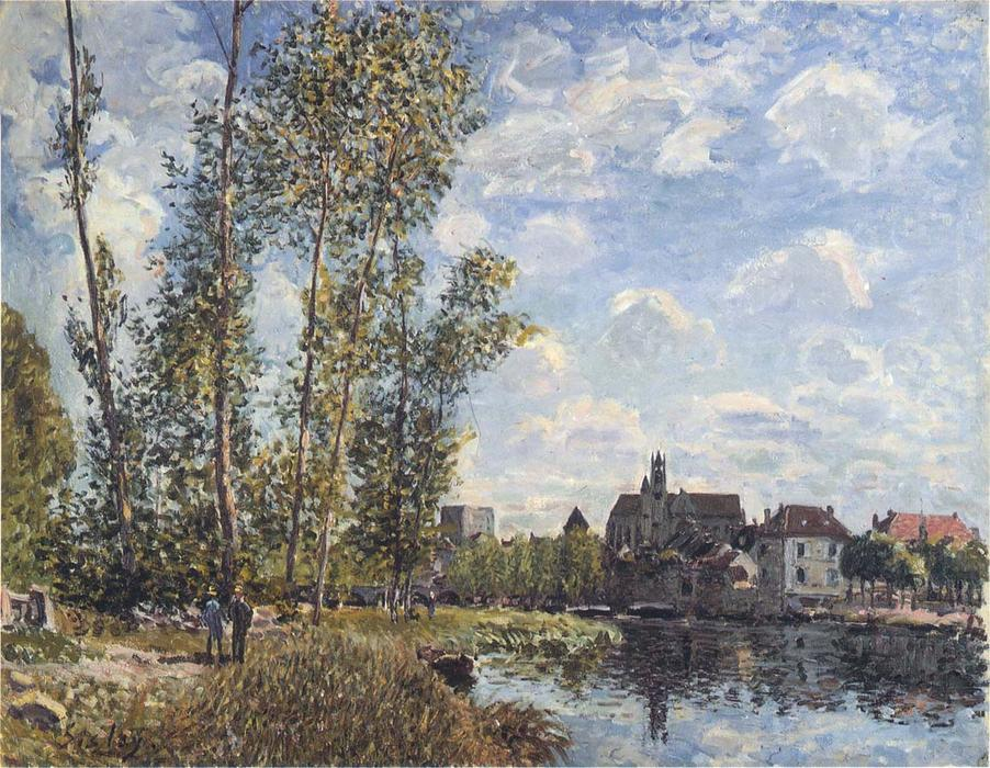 famous painting May Afternoon on the Loing of Alfred Sisley