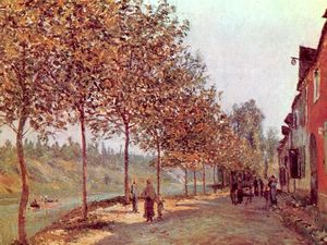 Alfred Sisley - Morning in June (aka Saint-Mammes et les Coteaux de la Celle)