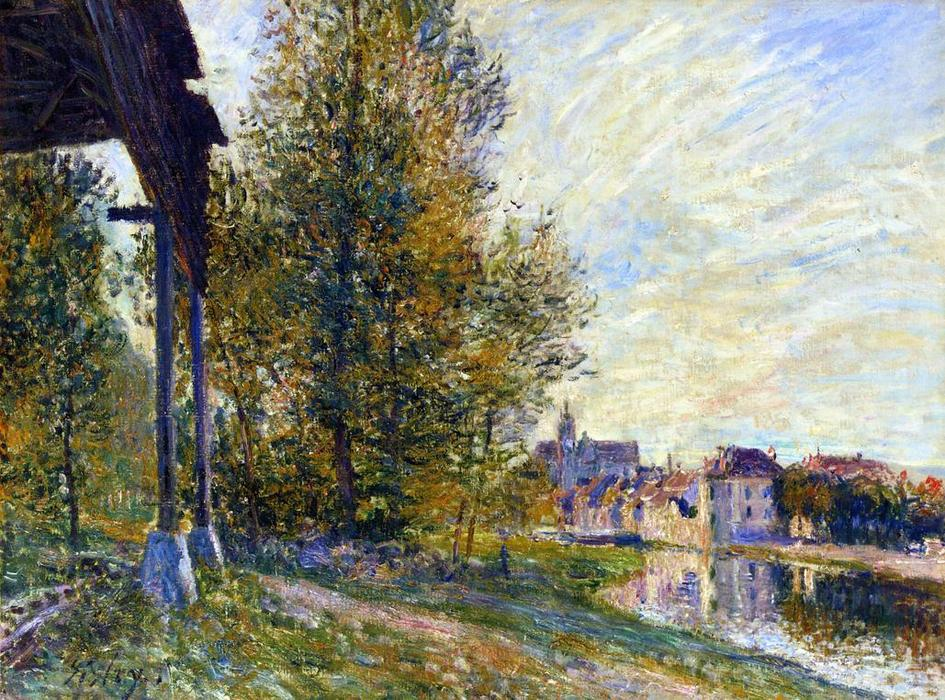 famous painting Near Moret sur Loing of Alfred Sisley