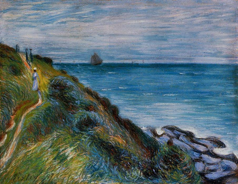 famous painting On the Cliffs, Langland Bay, Wales of Alfred Sisley