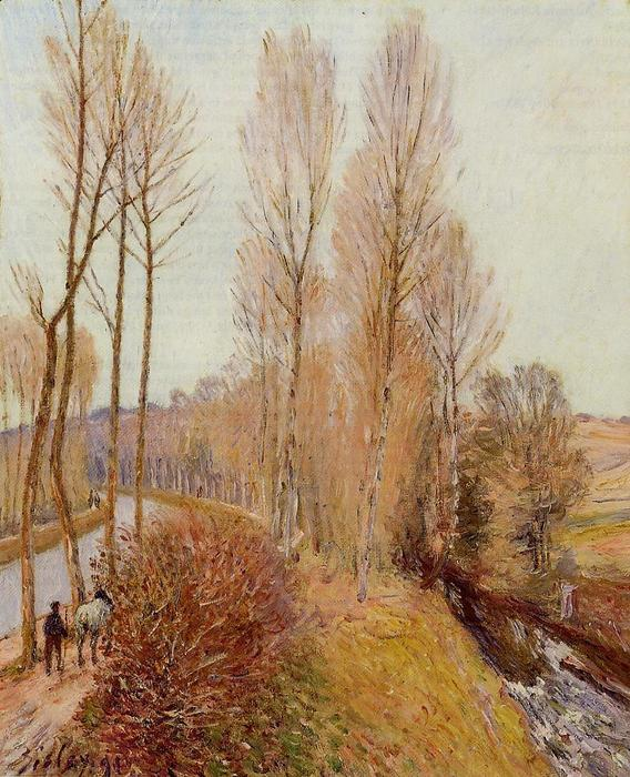 famous painting Path along the Loing Canal of Alfred Sisley