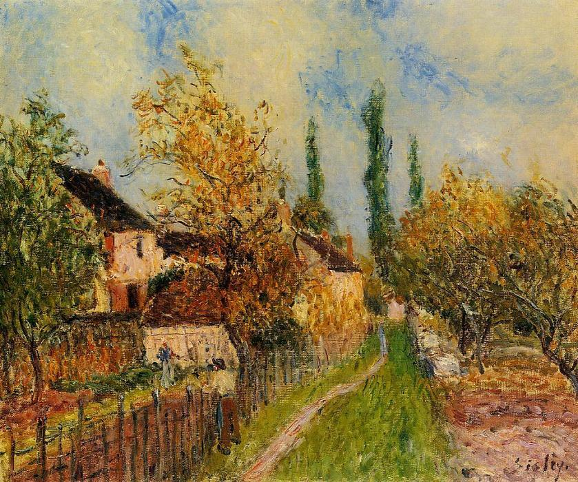 famous painting Path at Sablons of Alfred Sisley