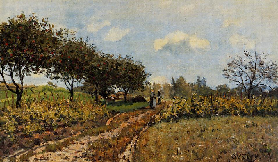 famous painting Path in the Country of Alfred Sisley