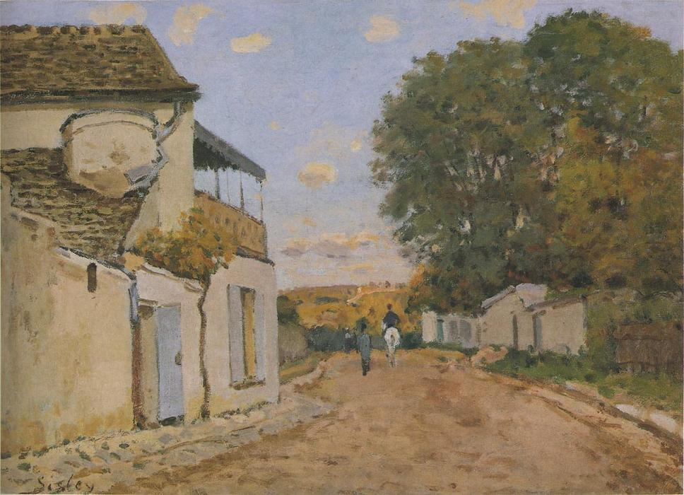 famous painting Princesse Street in Louveciennes of Alfred Sisley
