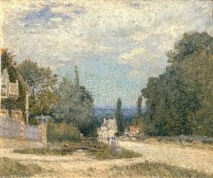 Alfred Sisley - Route from Louveciennes