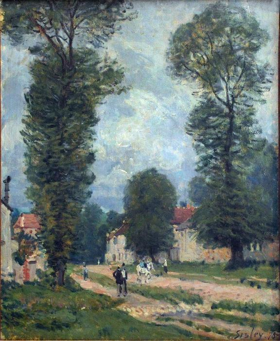 famous painting Route to Versailles of Alfred Sisley