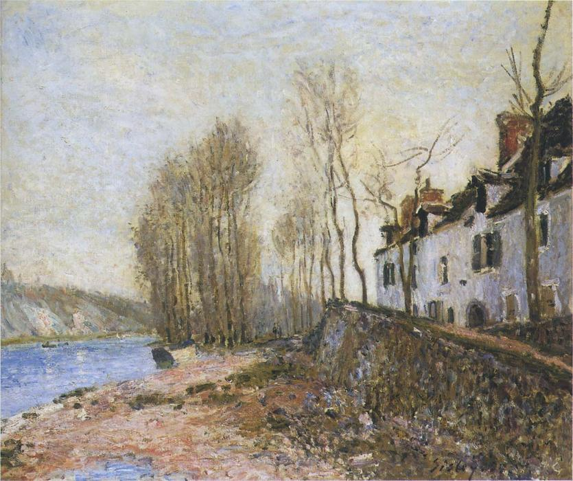 famous painting Saint Mammes in Winter of Alfred Sisley