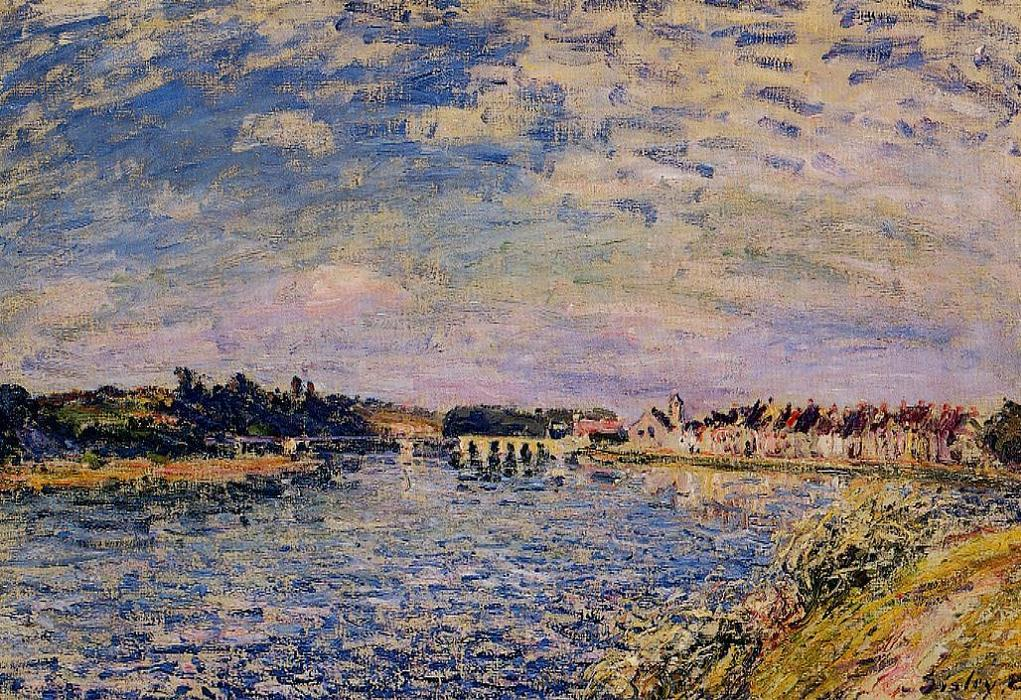 famous painting Saint Mammes Evening of Alfred Sisley