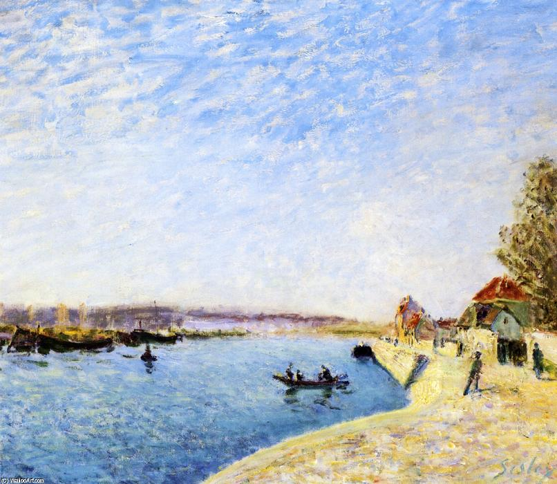 famous painting Saint-Mammes and the Banks of the Loing of Alfred Sisley