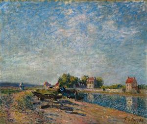 Alfred Sisley - Saint-Mammes, Loing Canal