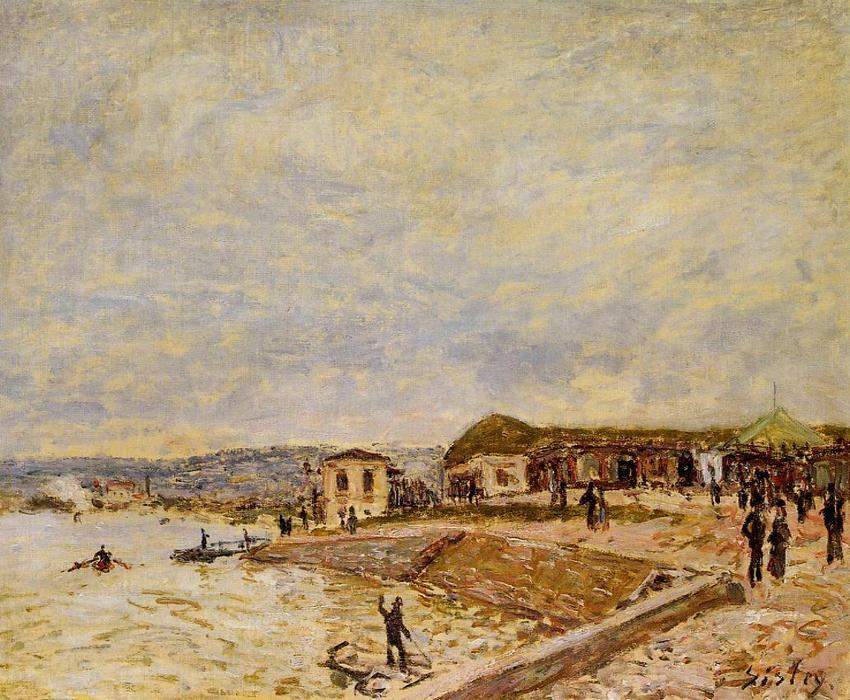 famous painting Seine at Daybreak of Alfred Sisley