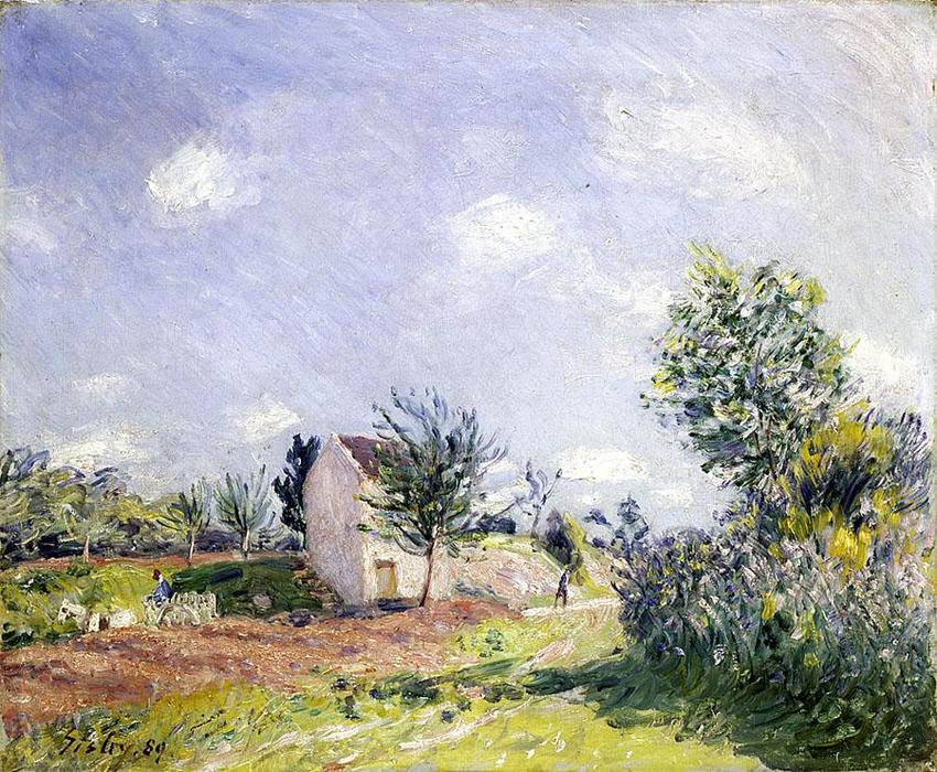 famous painting Springtime of Alfred Sisley